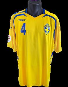 Sweden 2007/09 Home Matchworn Peter Hansson