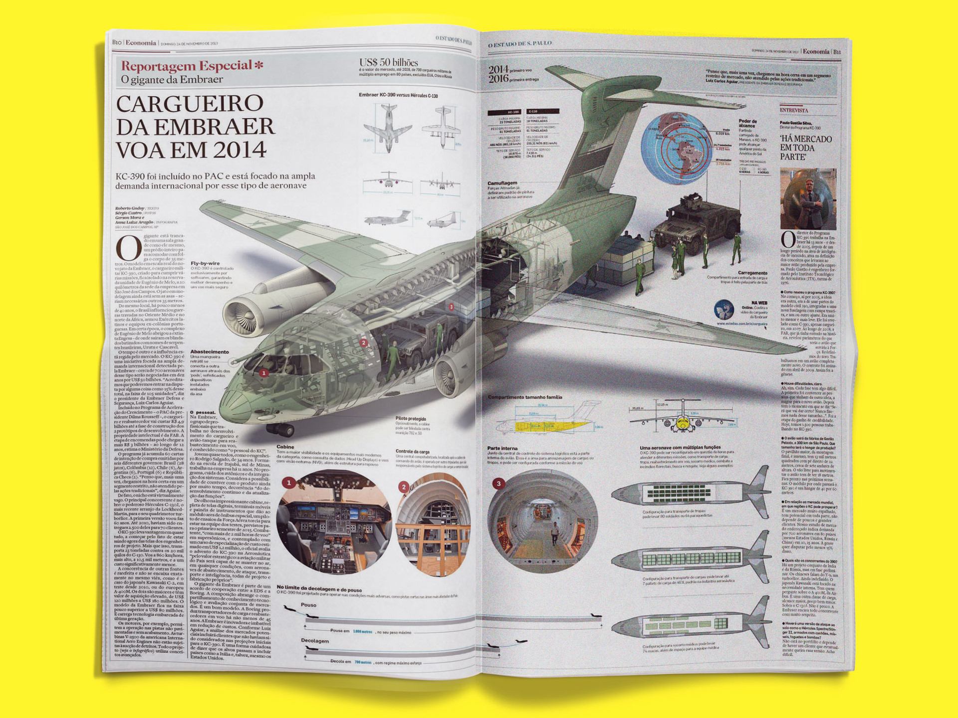 Infográfico KC-390 para o Jornal O Estado de São Paulo