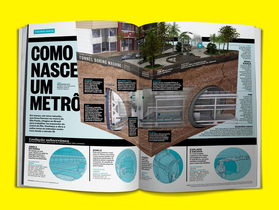 Superinteressante - Como nasce um metrô