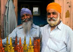 Sikh's posing in Jaipur, India