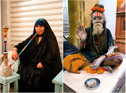 Hookah Lady and Holy Man