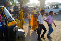 Congested backstreets of Jaipur