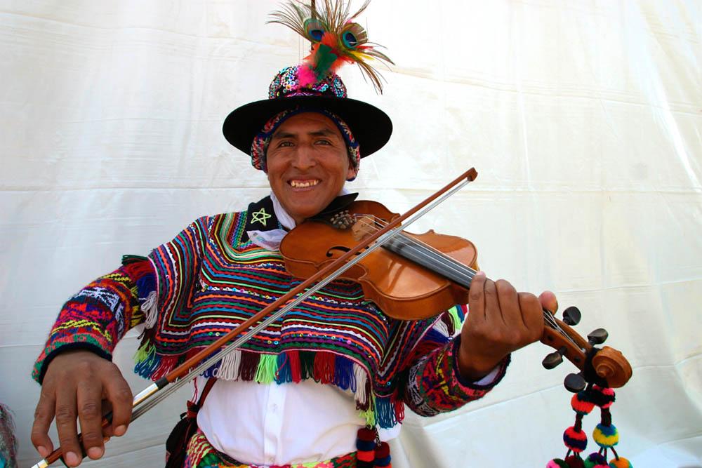 Peruvian Quechua Indian Musician
