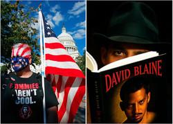 Anti-Protester and David Blaine