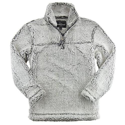 Black Sherpa Quarter-Zip Pullover