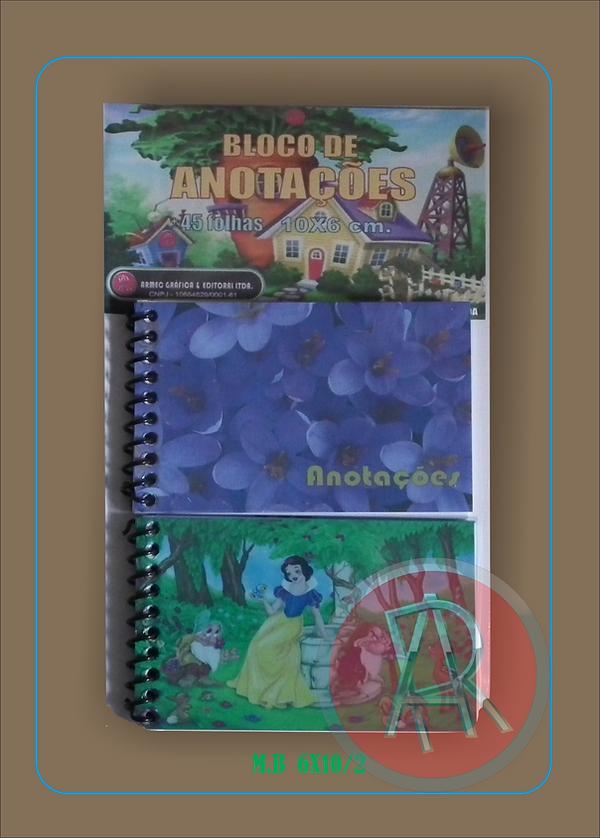 Bloquinho de anotações. Caderneta de anotações.