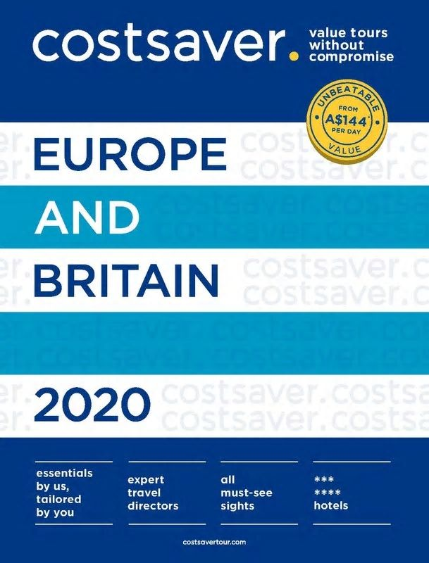 costsaver EUROPE & BRITAIN 2020