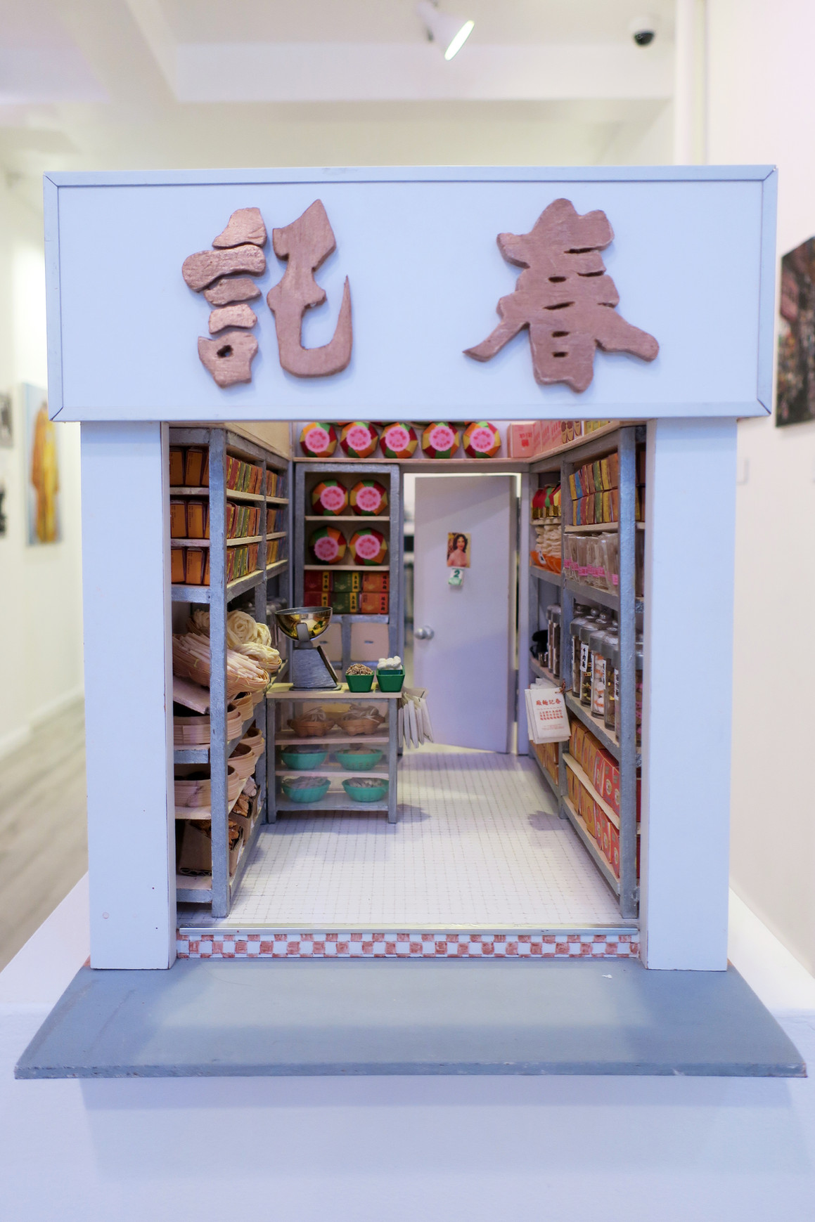 This is a miniature of a Hong Kong local shop, Chun Kee Noodle Factory, made by Vicky Fan.