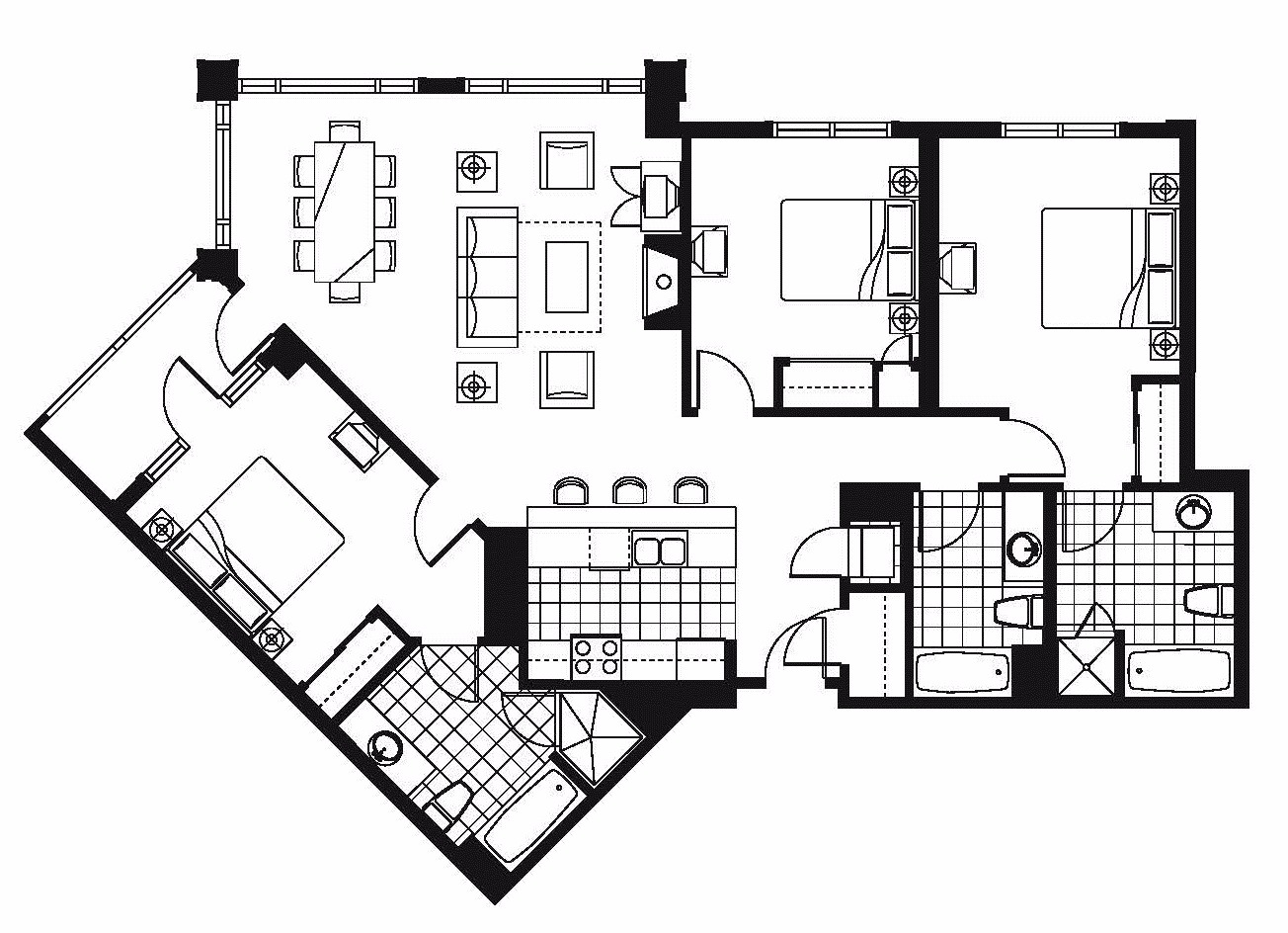 Luxury Condo Floor Plan