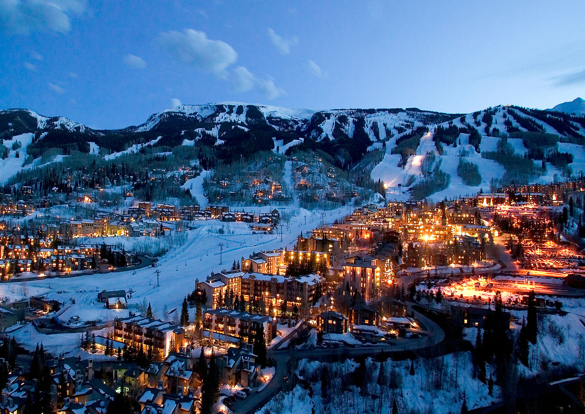 Snowmass Village at Night