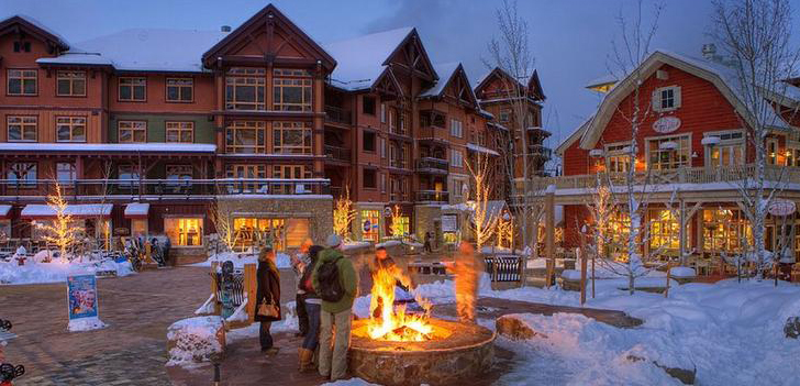 Snowmass Base Village at Night