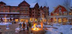 Snowmass Base Village at Night