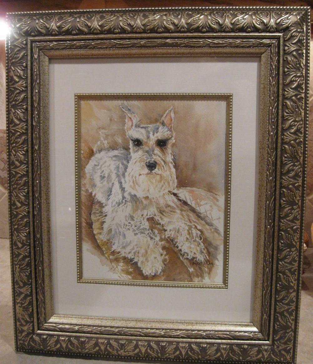 Custom Pet Portrait of Hutch by Paula Moore Art