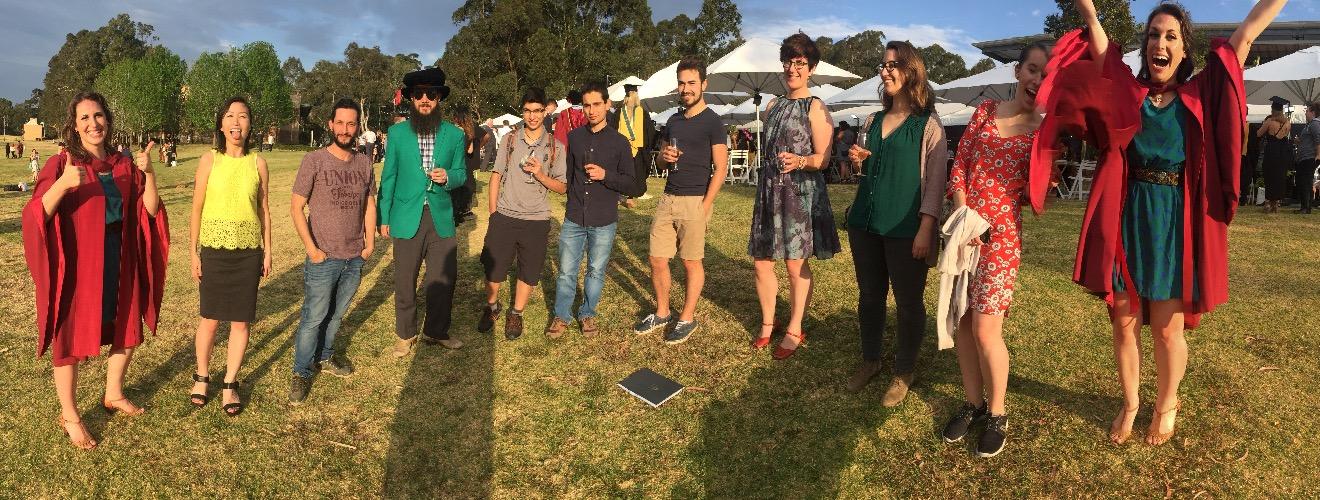 Celebrating graduation with the Lizard Lab.