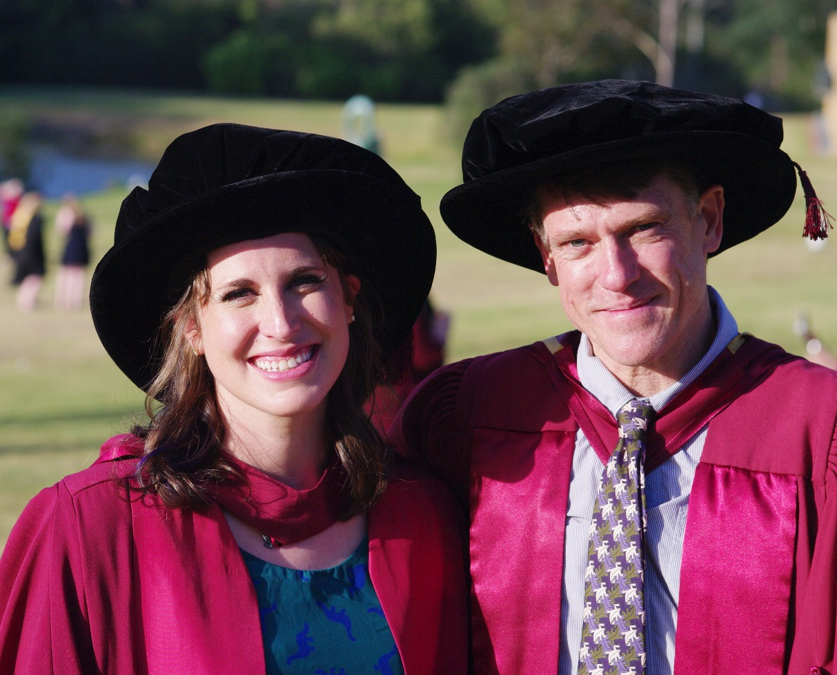 My supervisor, Dr. Martin Whiting, and me at graduation.