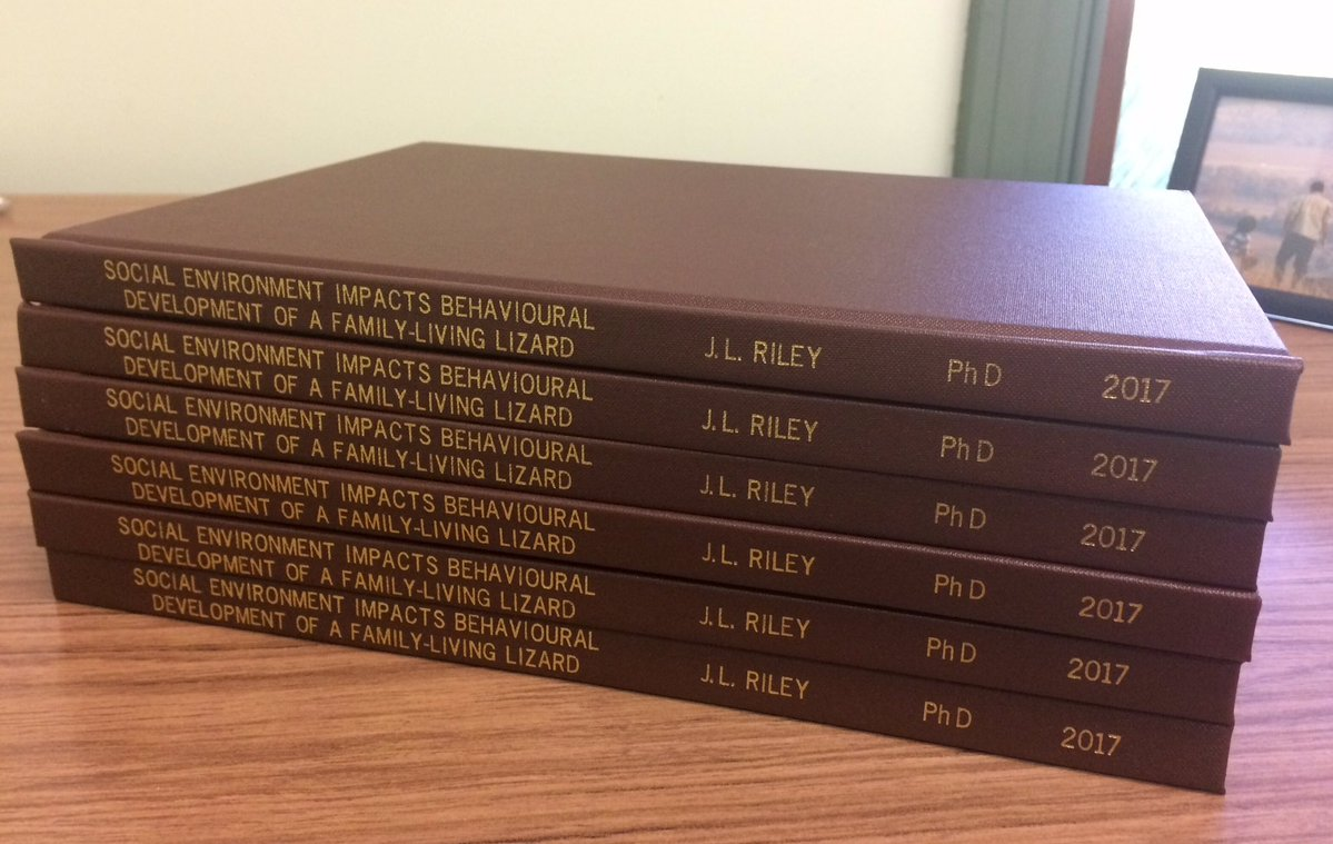 The hardbound version of my thesis have arrived!