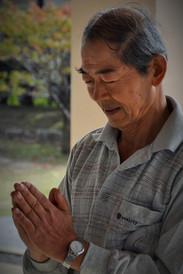 Nakamura Kenzo Sensei in Gassho