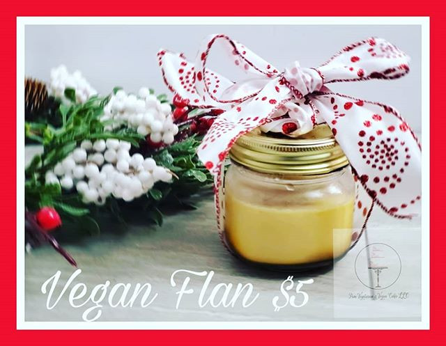VEGAN FLAN RESTOCKED and ready for consu