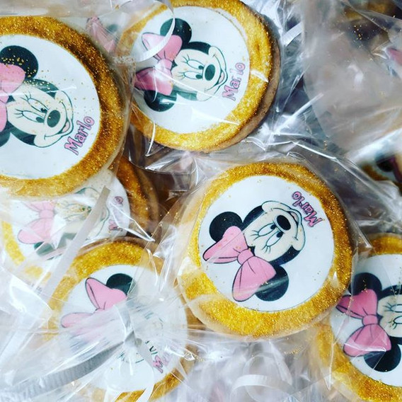 Minnie Mouse custom cookies with edible