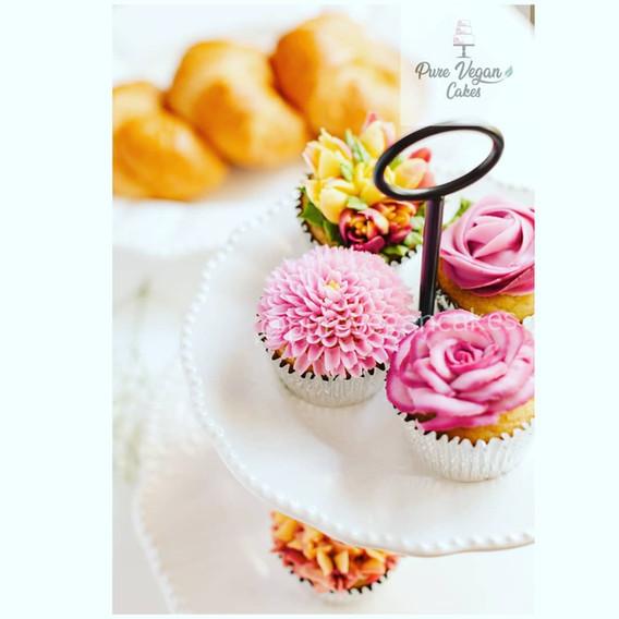 Floral Vegan Cupcake