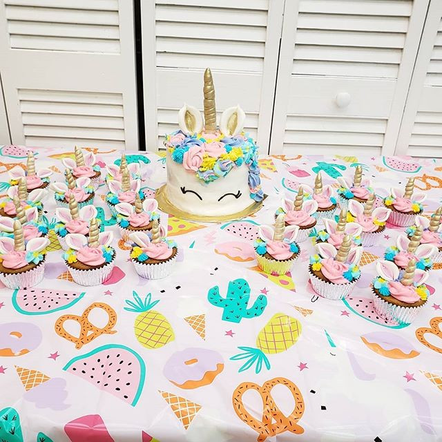 It's been a magical day. Unicorn Cake an