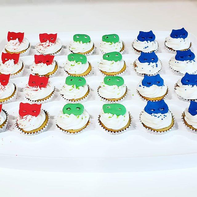 PJ Masks Mini Vanilla Cupcakes for a spe