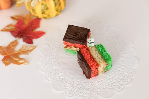 Vegan Italian Rainbow Cookies
