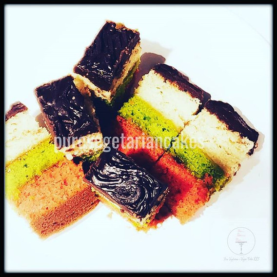 Vegan- Diaryfree Italian Rainbow Cookies