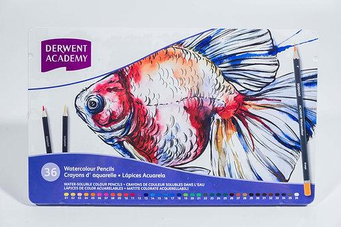 Derwent Academy Water Colour Pencils set  水溶性顏色鉛筆套裝