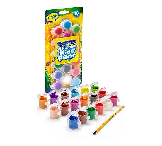 Crayola Washable Kids Paint 18 cols Set      千色樂可水清洗兒童18 顏色套裝