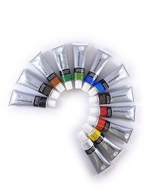 Rowney Simply Water Colour  Introduction Set 12 Col. x 12ml- 威美水彩初階套裝