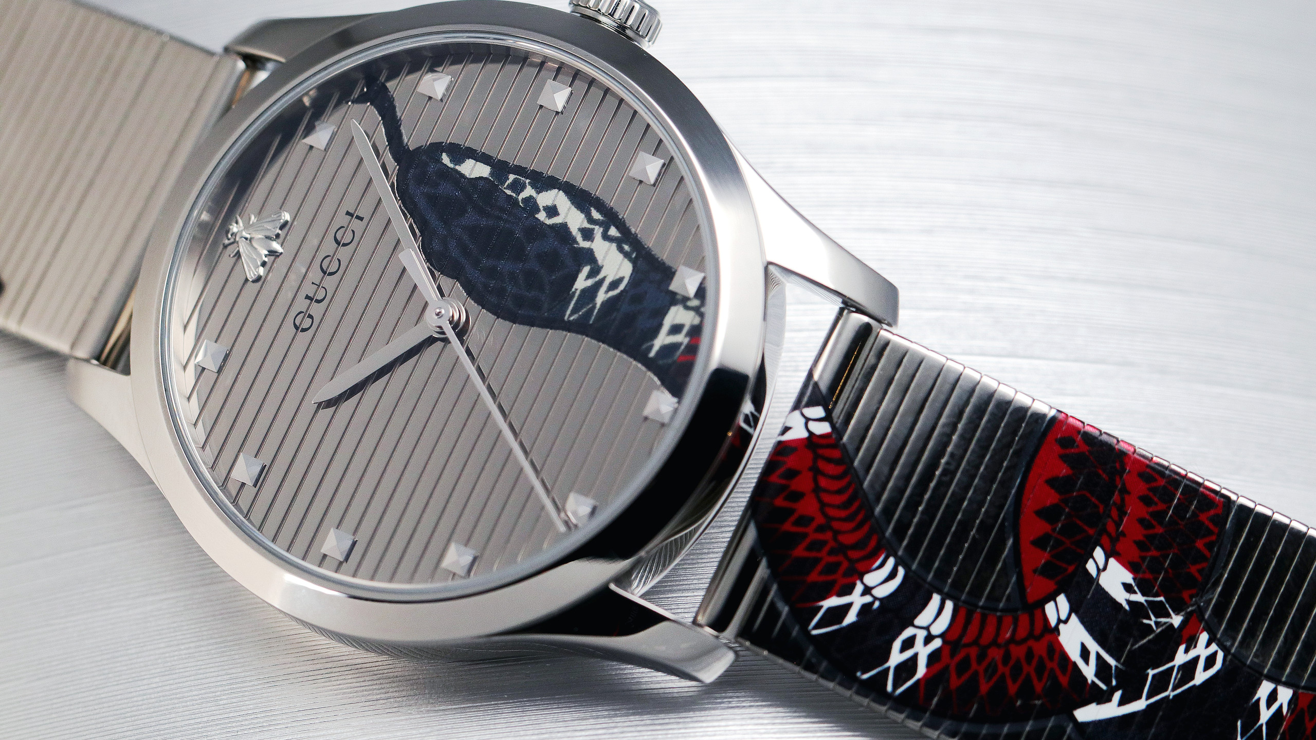 G-Timeless當代腕錶—— 帝王蛇圖案
