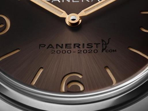 【PANERAI特別版腕錶 慶祝 Paneristi.com 20歲生日】