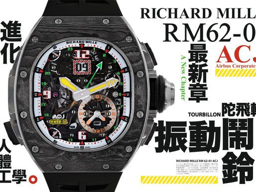 【RICHARD MILLE 最新章】RM62-01 ACJ 陀飛輪振動鬧鈴