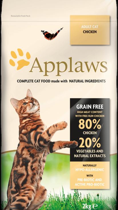 82% pollo con verduras y extractos naturales + prebiótico – Comida completa para gatos adultos. Sin cereales.