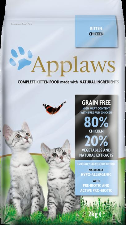 80% pollo con verduras y extractos naturales+ prebiótico– Comida completa para gatitos. Sin cereales.
