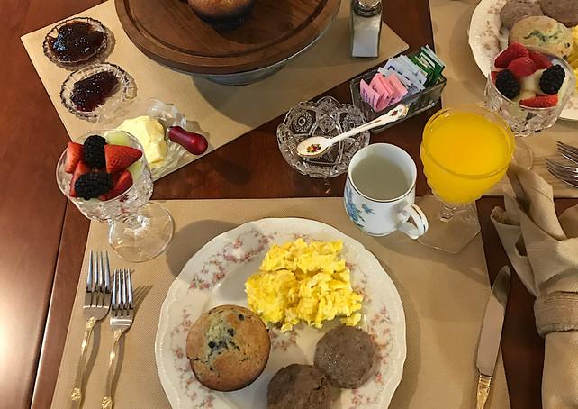 Scrambled Eggs and Muffins