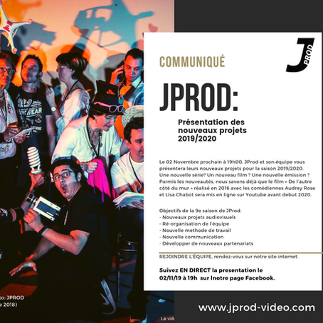 JPROD: La rentrée se prépare !