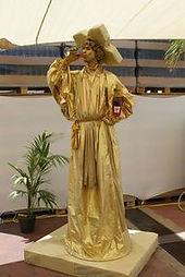 פסל חי פסל הזהב