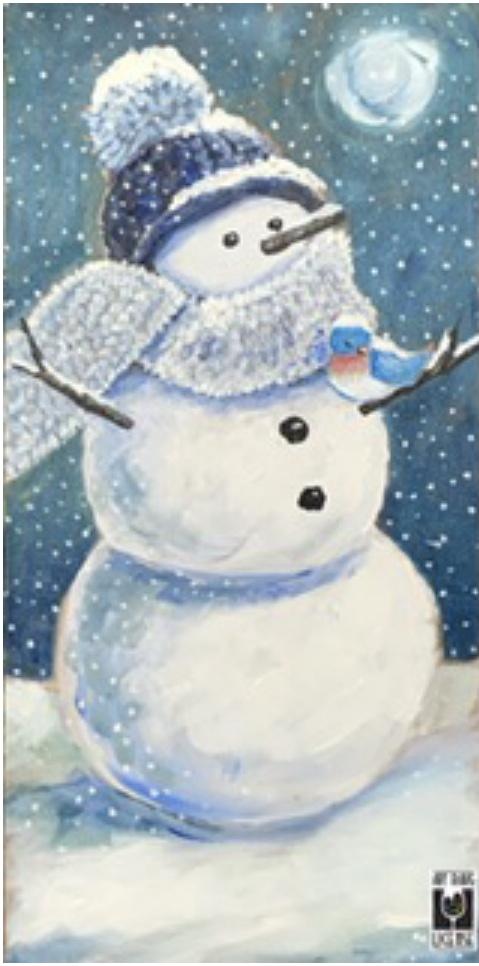 Snowman & Bluebird