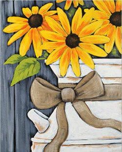 Sunflowers in a Milk Jug