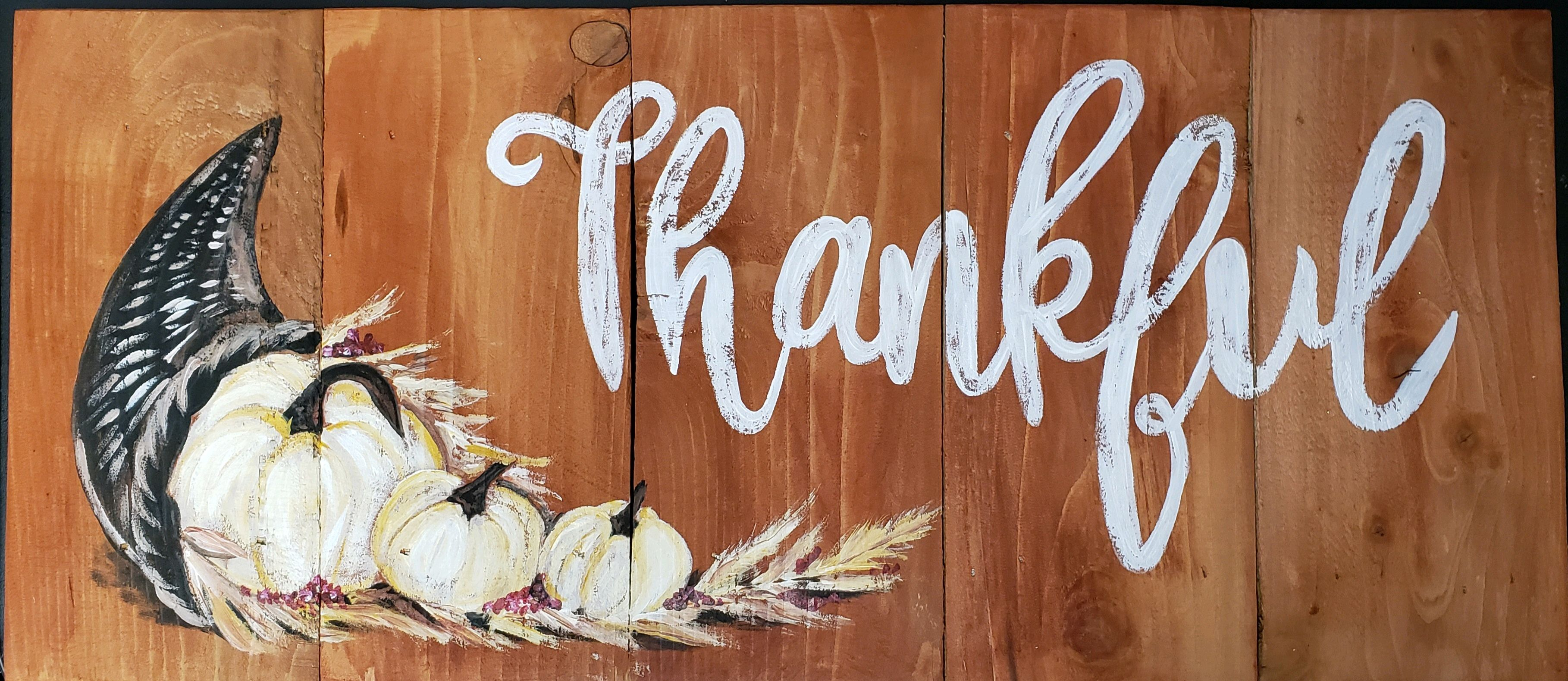 Thankful on Wood (Large)