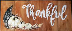 Thankful on Wood (Large)