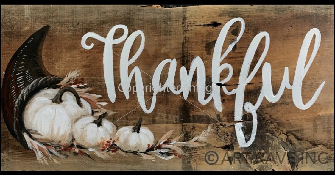 Thankful on Wood