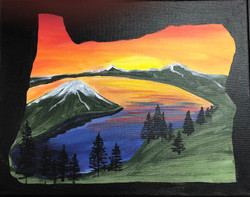 Crater Lake on Canvas