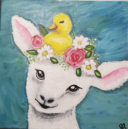Lamb with Chick