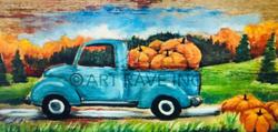 Pumpkin Harvest on Wood