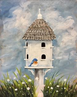 Welcome Spring - Birdhouse