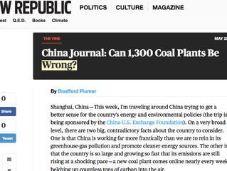 Can 1300 Coal Plants Be Wrong?