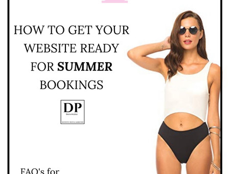 How To Get Your Website Ready For Summer Bookings